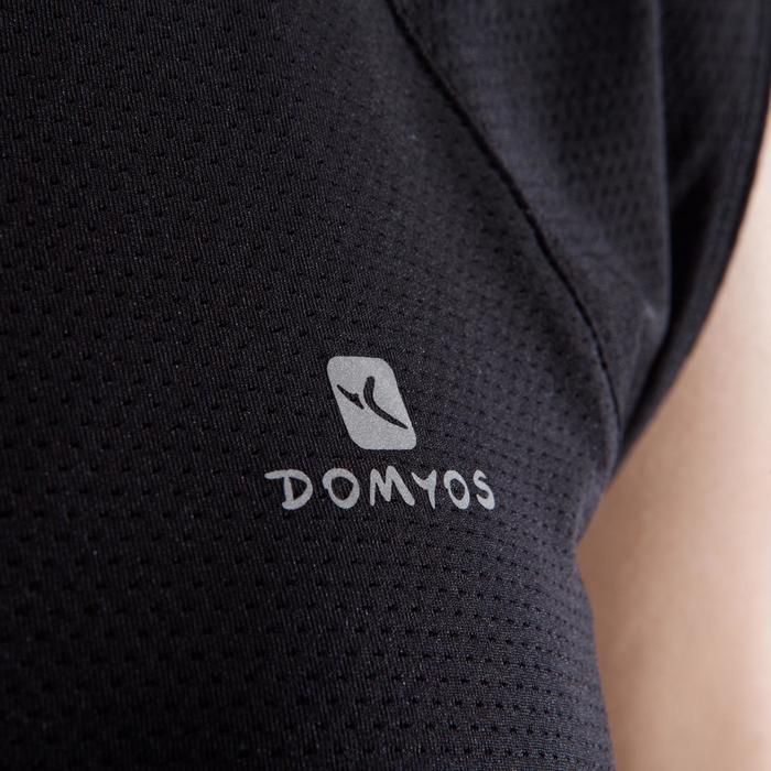 T-shirt fitness cardio femme bleu marine à imprimés roses 500 Domyos - 1349357