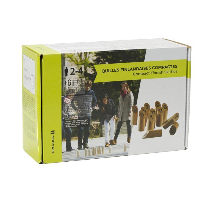 Holzkegelspiel Finnish Skittles Kompakt