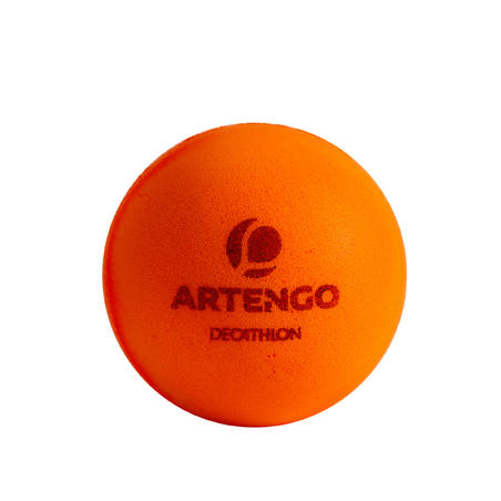 PPB 100 Silent 6-Pack Foam Table Tennis Balls - Orange