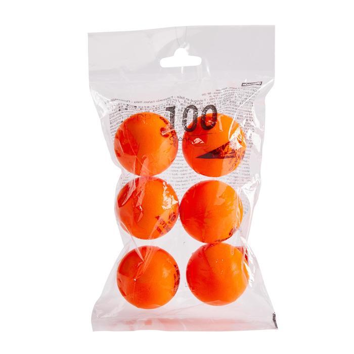 Tischtennisbälle PPB 100 6er-Pack Silent orange