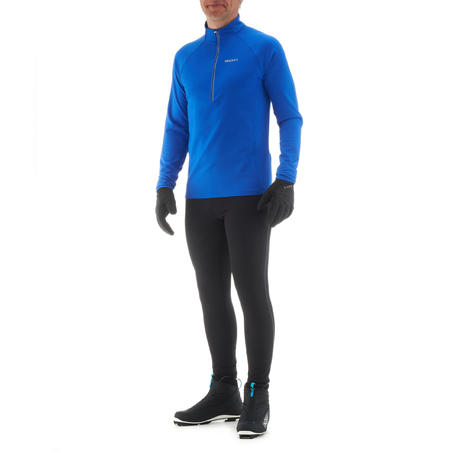 Men's Cross-Country Ski Warm Tights XC S 100 - Black