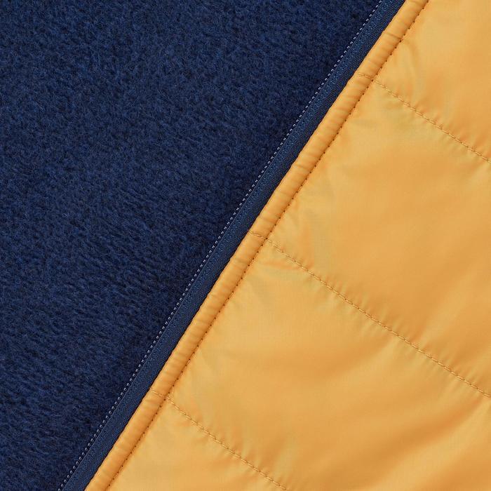 Fleecejacke Hybrid NH500 Herren marineblau/gelb
