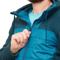 Chamarra para senderismo en naturaleza hombre NH500 Hybrid azul turquesa