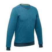 Turkizno moder moški pohodniški pulover NH150