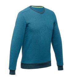 Pull randonnée nature homme NH150 bleu turquoise