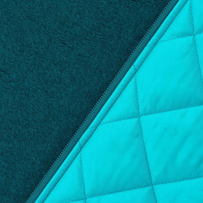 Jersey de senderismo en la naturaleza mujer NH500 Hybrid azul caribe