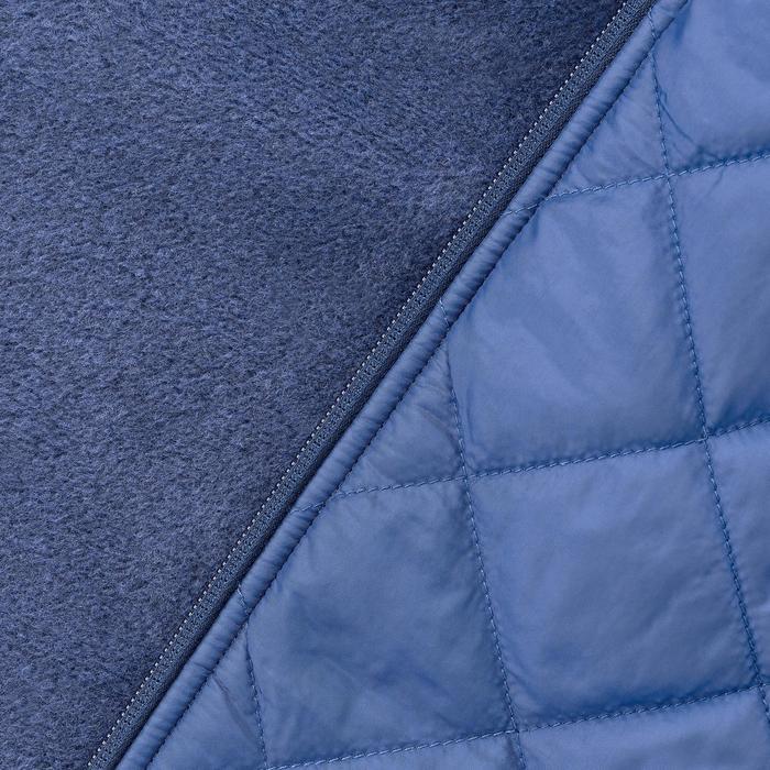 Jersey de senderismo en la naturaleza mujer NH500 Hybrid azul tinta