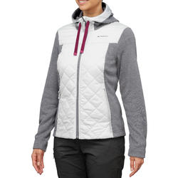 Women's Hybrid Country Walking Pullover NH500 - Light Grey