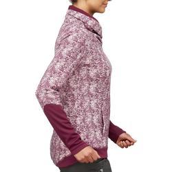 Pullover Naturwandern NH500 Damen Print bordeaux