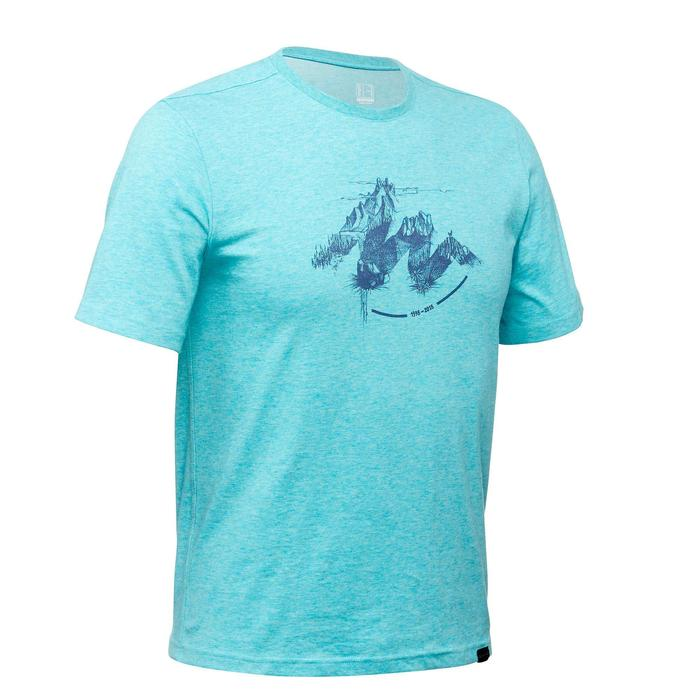 Tee shirt randonnée nature homme NH500 chiné - 1349954