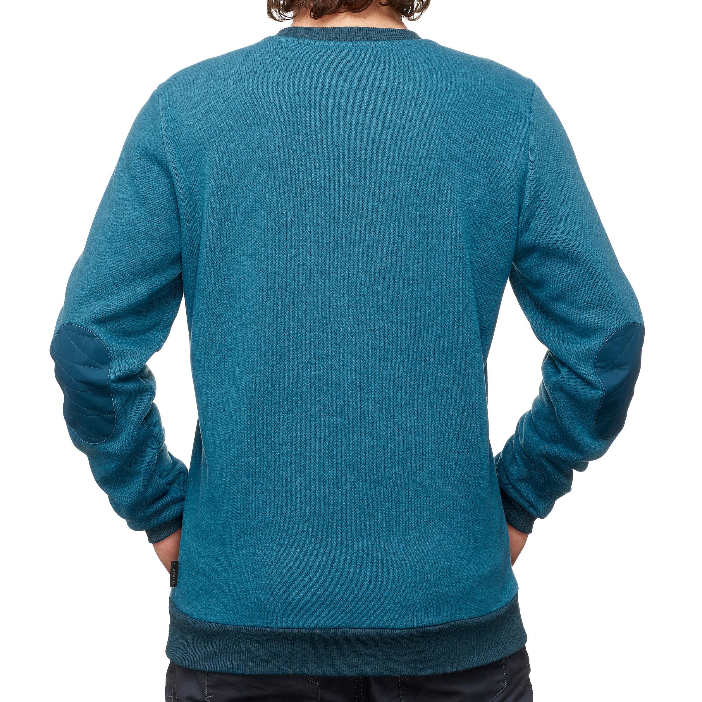 Tricot randonnée nature homme NH150 bleu turquoise