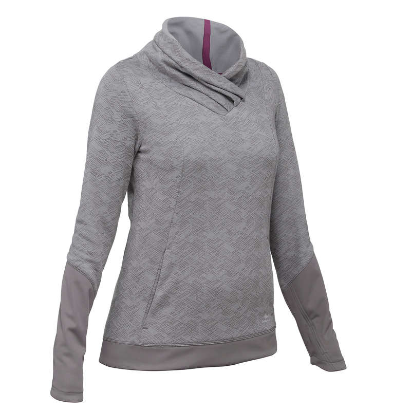 WOMEN NATURE HIKING JUMPERS/HOODIES Clothing - Women's Pullover NH500 - Grey QUECHUA - Tops