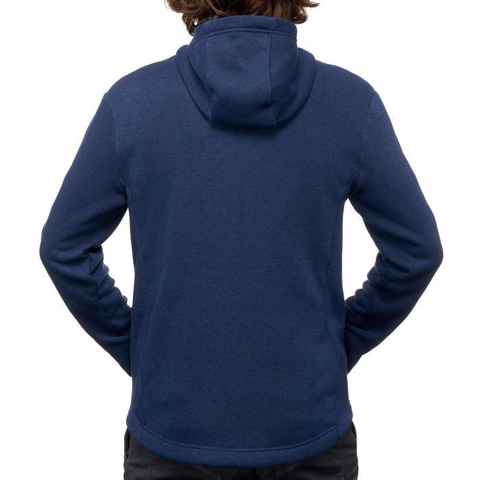 男款健行混合立領針織衫NH500-海軍黃