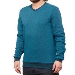 Jersey senderismo en la naturaleza hombre NH150 azul turquesa
