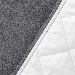 Jersey de senderismo en la naturaleza mujer NH500 Hybrid gris claro