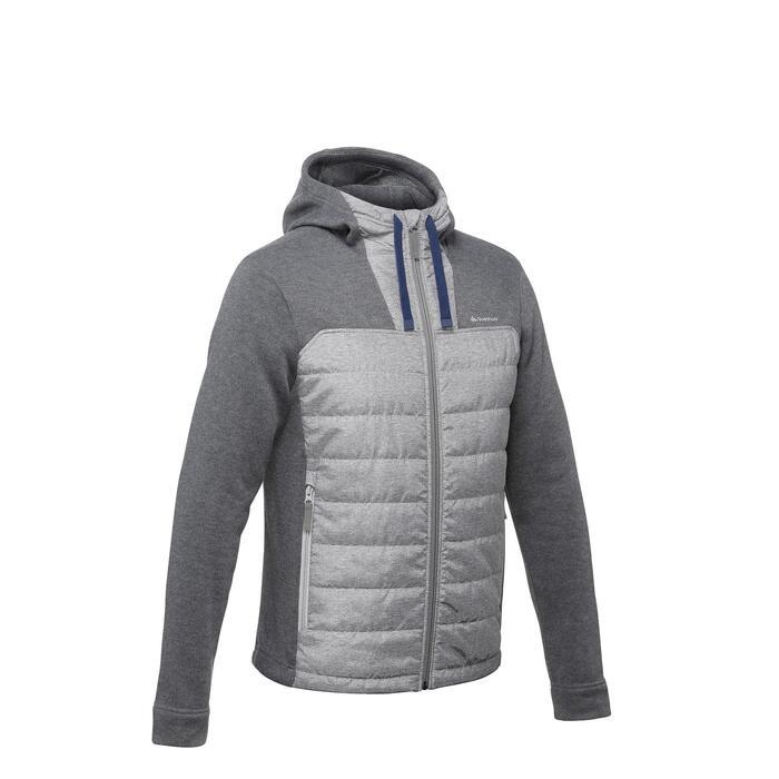 Men's Hiking Sweatshirt NH100 Hybrid - Grey