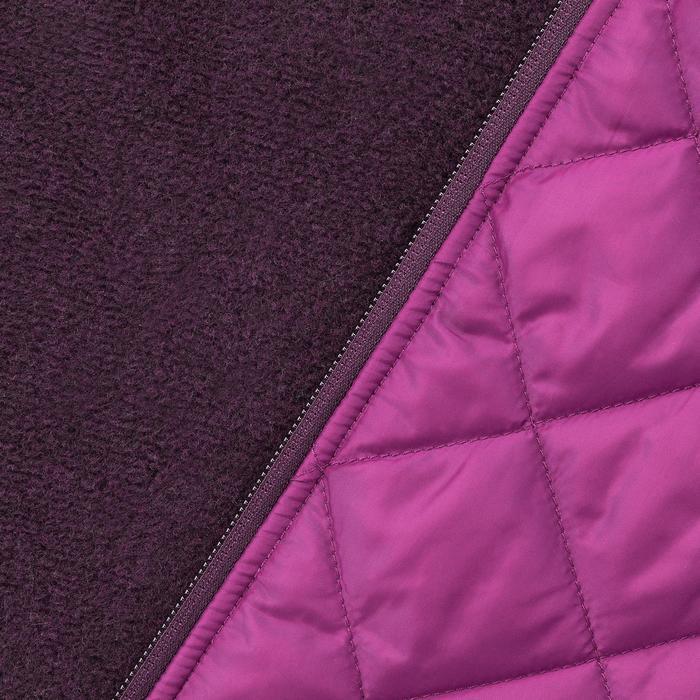 Hybridjacke Wanderpullover NH500 Nature Damen violett