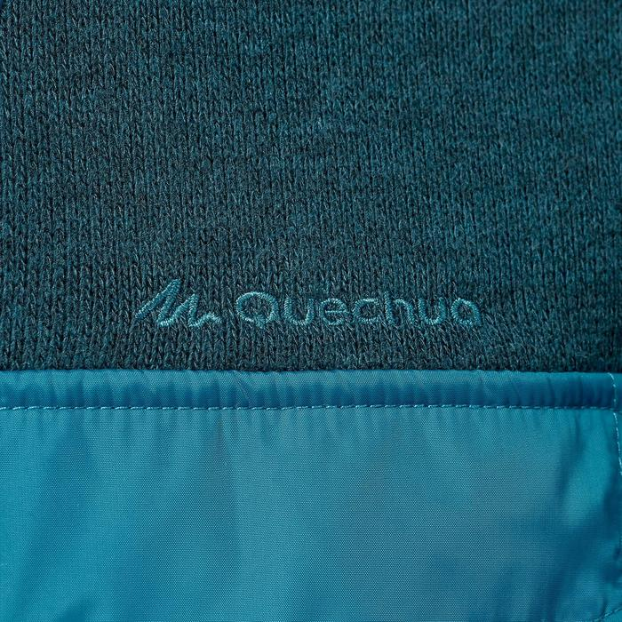 Pull randonnée nature homme NH500 Hybrid turquoise