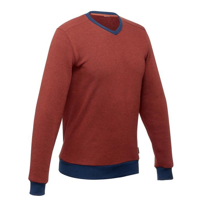 Pullover Naturwandern NH150 Herren rot/blau