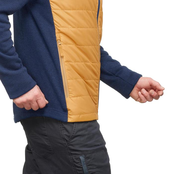 NH500 Hybrid Men's Nature Hiking Pullover - Navy Yellow