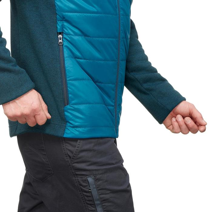 Jersey de senderismo naturaleza hombre NH500 Hybrid azul turquesa