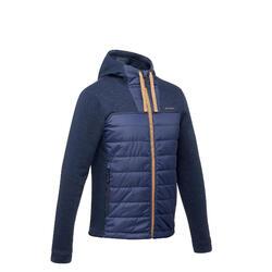 Hybrid-Sweatshirtjacke Naturwandern NH100 Herren marineblau