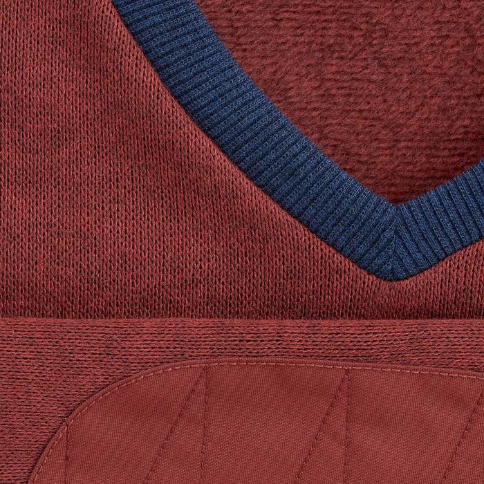 Jersey senderismo en la naturaleza hombre NH150 rojo y azul
