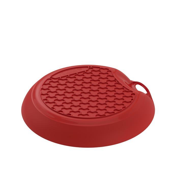 Assiette plate camp du randonneur MH100 plastique rouge (0,45 litre)