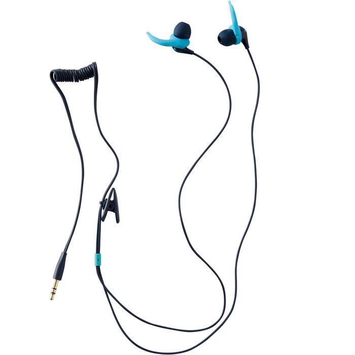 Set waterdichte oortjes voor mp3 V2 Nabaiji blauw