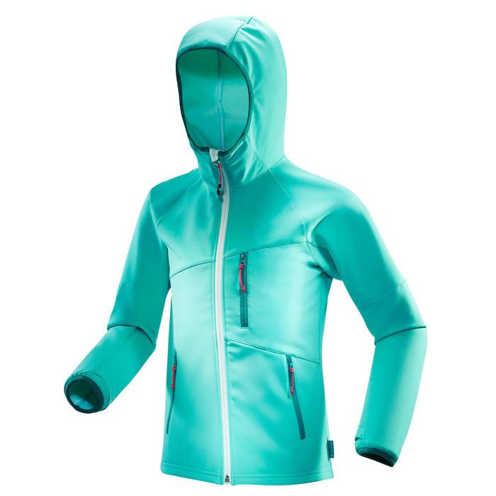 Chaqueta Softshell de senderismo niño MH 900 azul