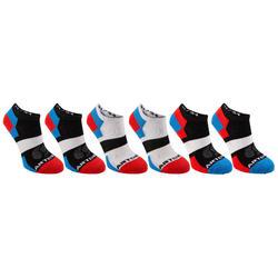 Lage tennissokken voor kinderen Artengo RS 160 blauw wit rood set van 6