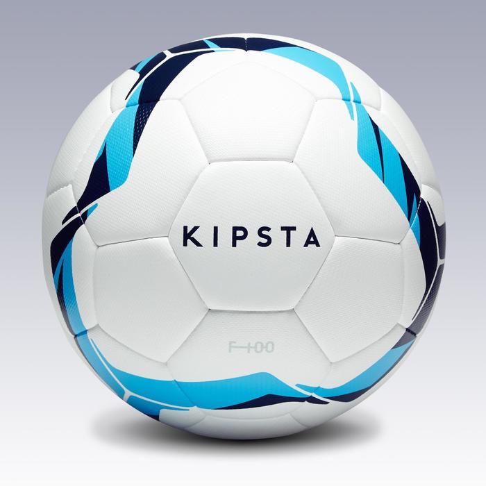 Ballon de football F100 hybride taille 3 blanc et bleu