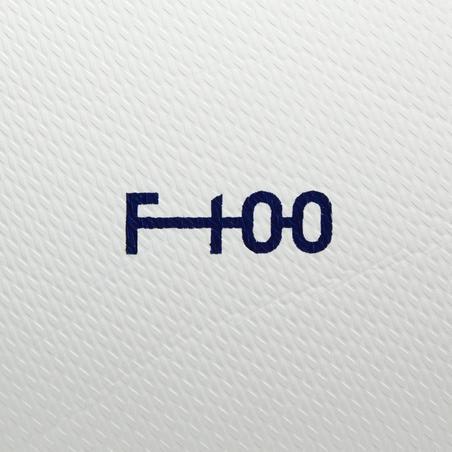 F100 Hybrid Size 4 Soccer Ball - White/Red
