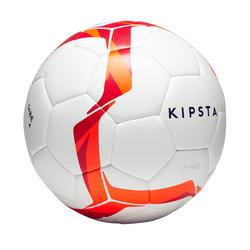 Fußball F100 Hybrid Größe 4 weiß/rot