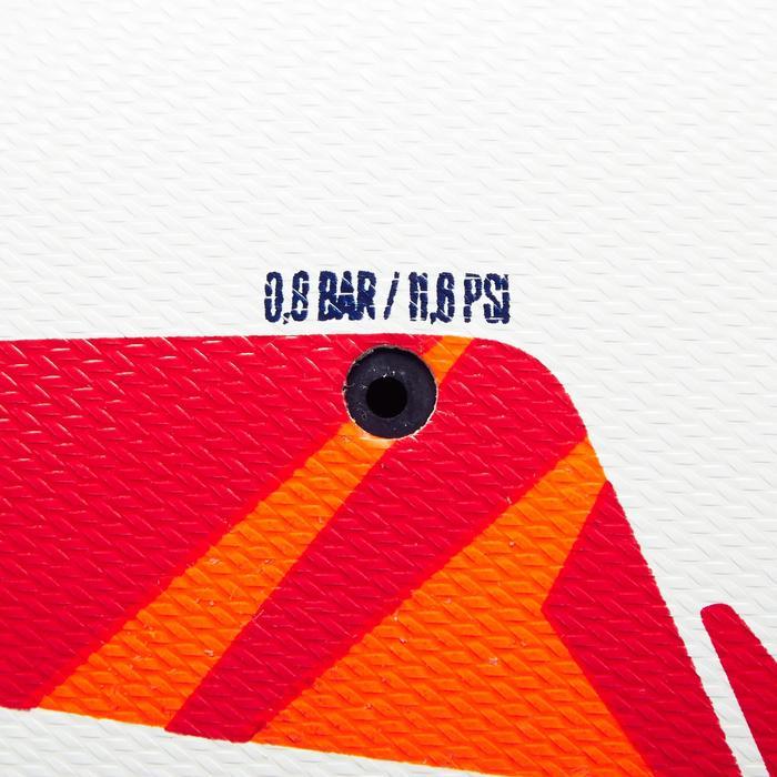 4號混合足球F100-白色/紅色