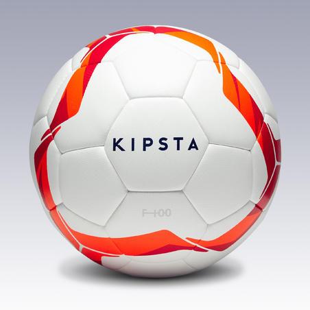 Гібридний футбольний м'яч F100, розмір 4 - Білий/Червоний