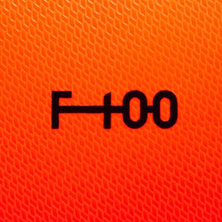 F100 Hybrid Size 5 Football Ball - Orange/Blue