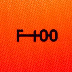 Voetbal F100 hybride maat 5 oranje/blauw