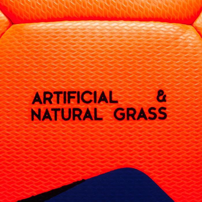 Fußball F100 Hybrid Größe 5 orange/blau