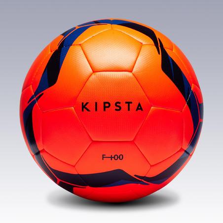 Bola Sepak bola Ukuran 5 F100 Hybrid - Oranye/Biru