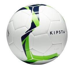 Balón de fútbol Híbrido F100 talla 5 blanco y verde