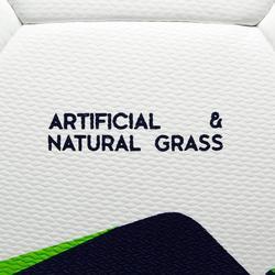 Ballon de football Hybride F100 taille 5 blanc et vert