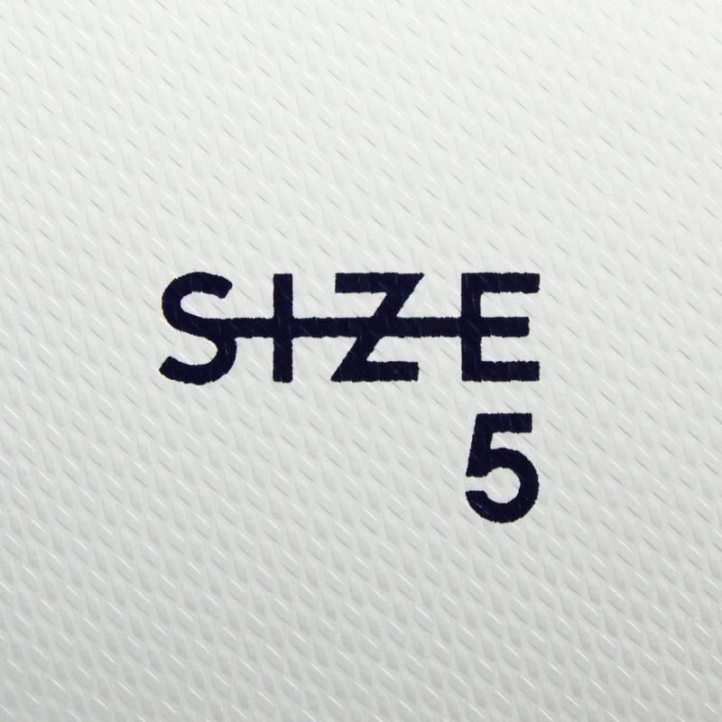 F100 Size 5 Hybrid Football Ball - White/Green