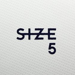 Fußball F100 Hybrid Größe5 weiß/grün