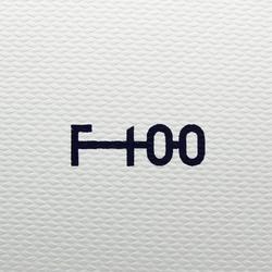 Voetbal F100 hybride maat 5 wit en groen