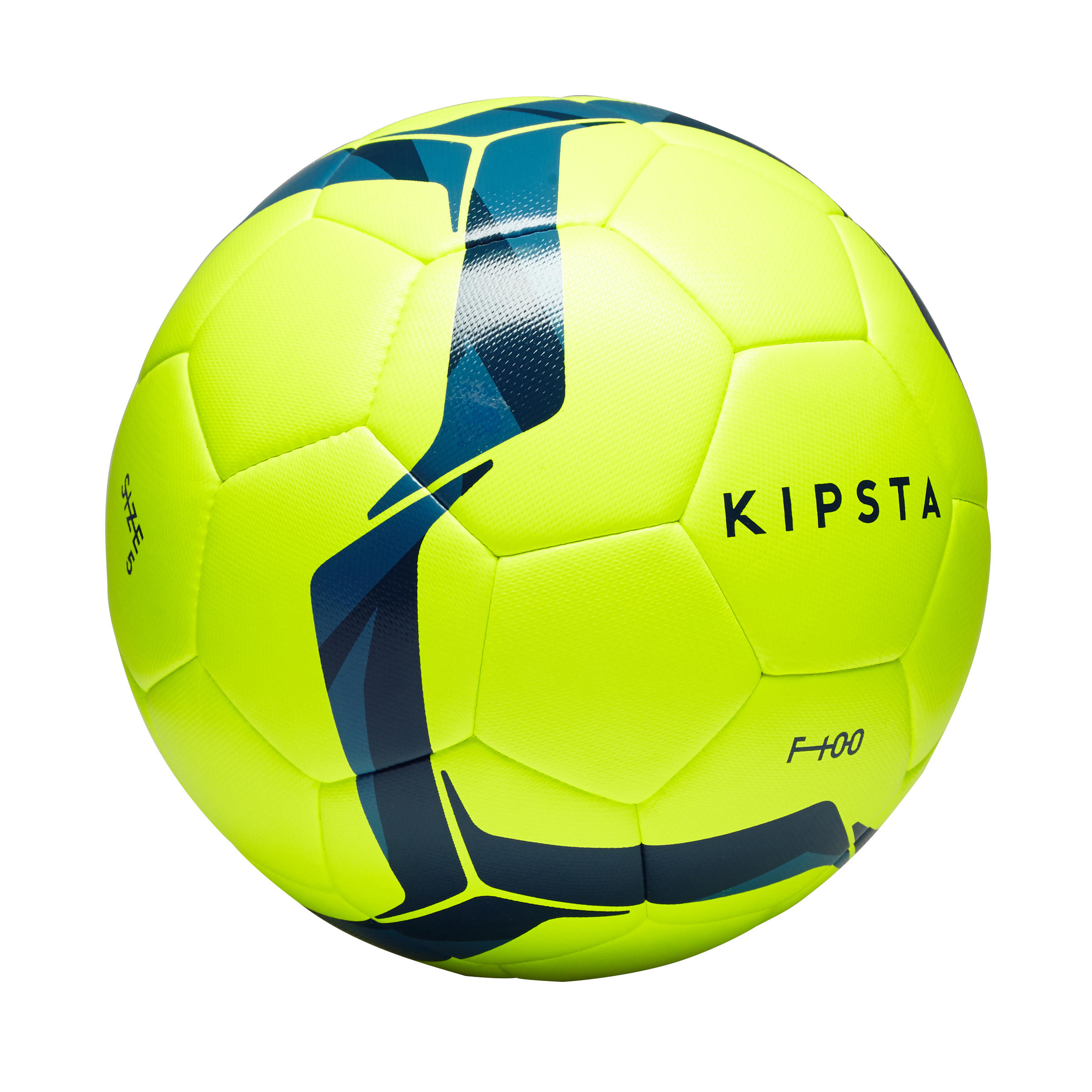 F100 Size 5 Hybrid Football Ball - Yellow/Blue