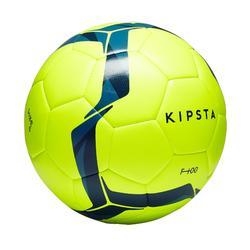 Voetbal F100 hybride maat 5 geel en blauw
