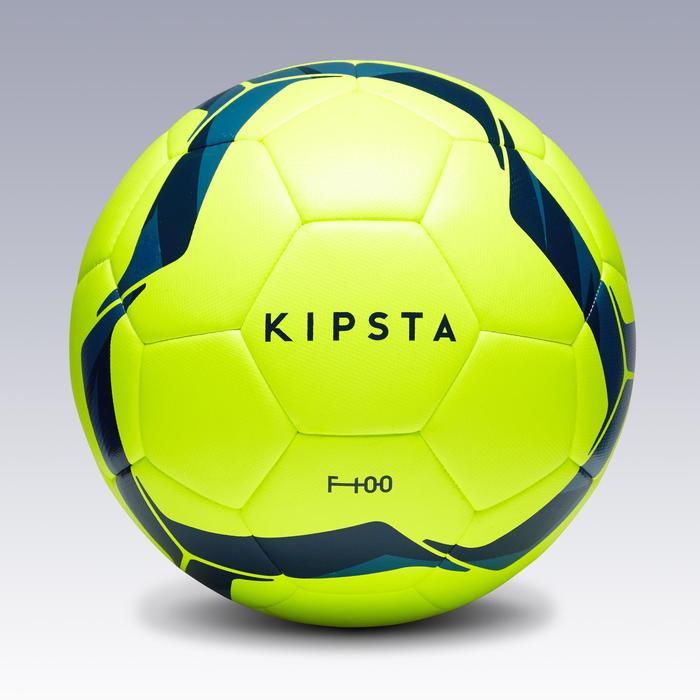 Balón de Fútbol Kipsta F100 Híbrido talla 5 amarillo y azul