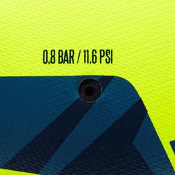 F100 Size 5 Hybrid Football Ball - Yellow/Blue