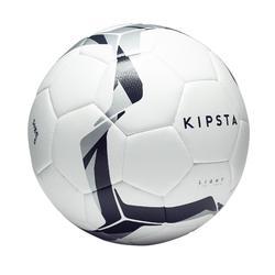 Ballon de football hybride F100 light taille 5 blanc noir argent